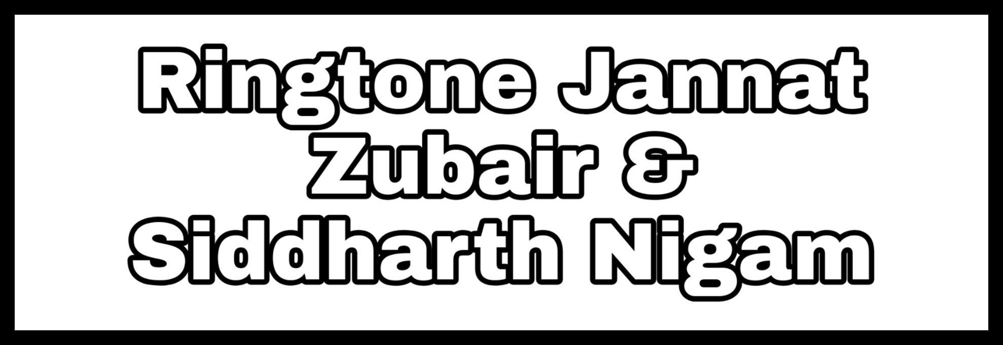 Ringtone Jannat Zubair